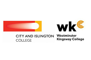 City and Islington and Westminster Kingsway College logos