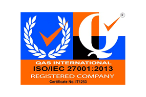 ISO 27001 registered company logo