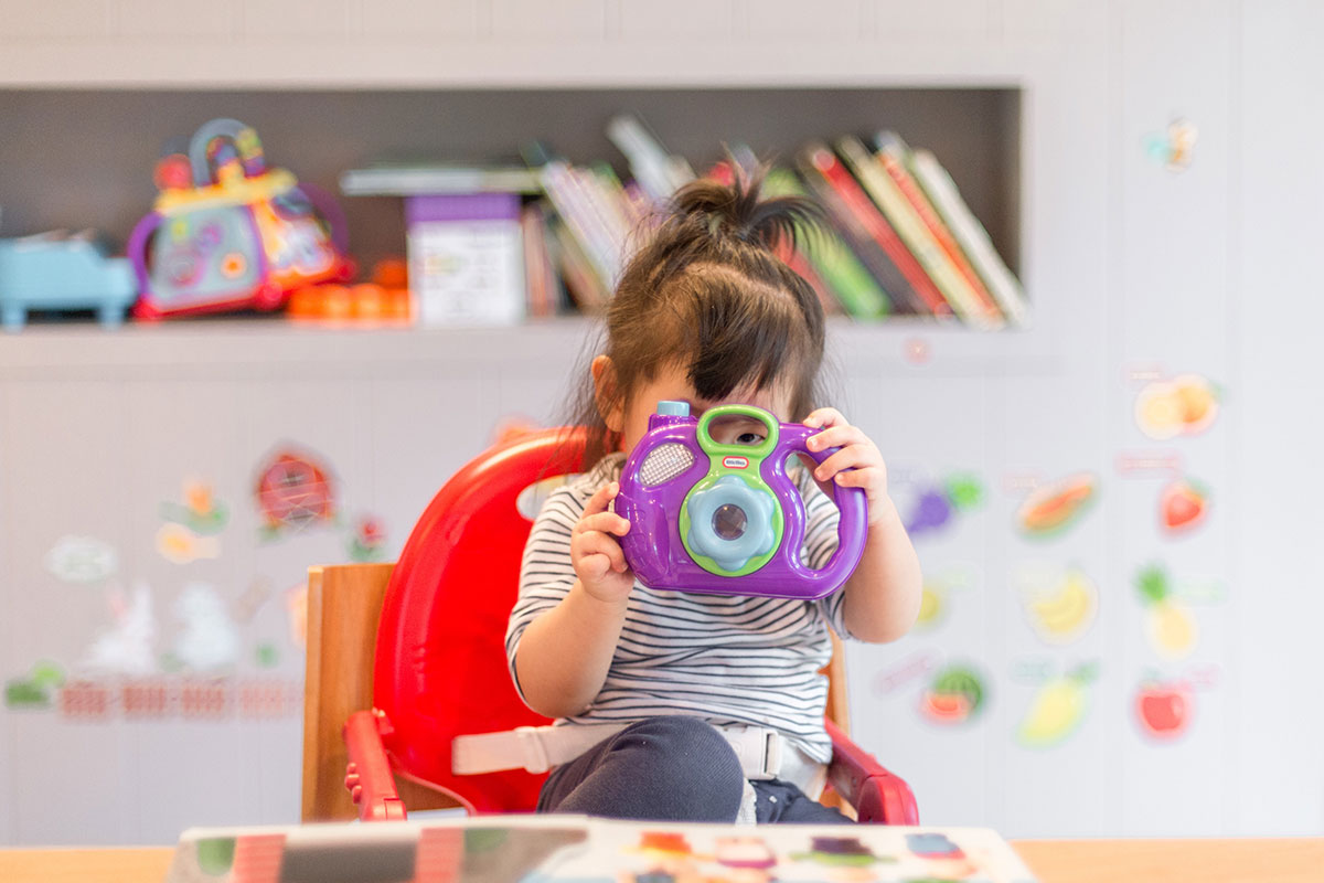 child in early years education setting